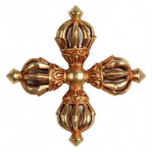Nyingma Vishva-Dorje - Vajra firegilt 5,6 cm