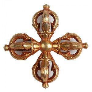 Vishvadorje gold plated - Vishvavajra 6,2 cm