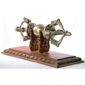 Monastry Dorje - Vajra  55 cm silver plated