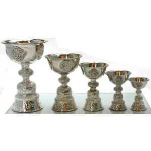 Dipa - buddhist oil lamp silver