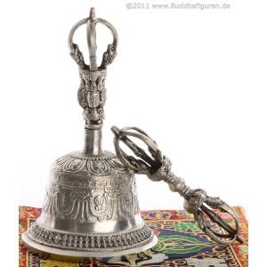 Ghanta - bell silver style 14 cm, 16 cm, 22 cm