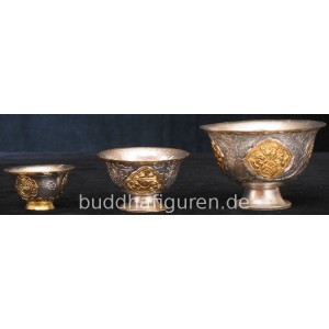 Offering Bowl  gilt and silver plated