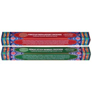 Set of 2  Incense Himalayan Herbal - Tibetan Monastry
