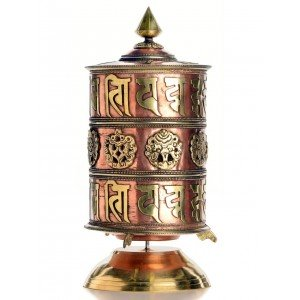Table Prayer-Wheel 29 cm Om Mani