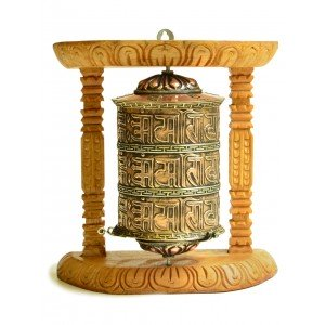 Wall Prayer wheel copper - 20 cm