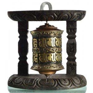 Wall Prayer wheel copper 10 cm