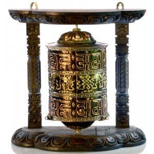 Wall Prayer wheel copper - 25 cm