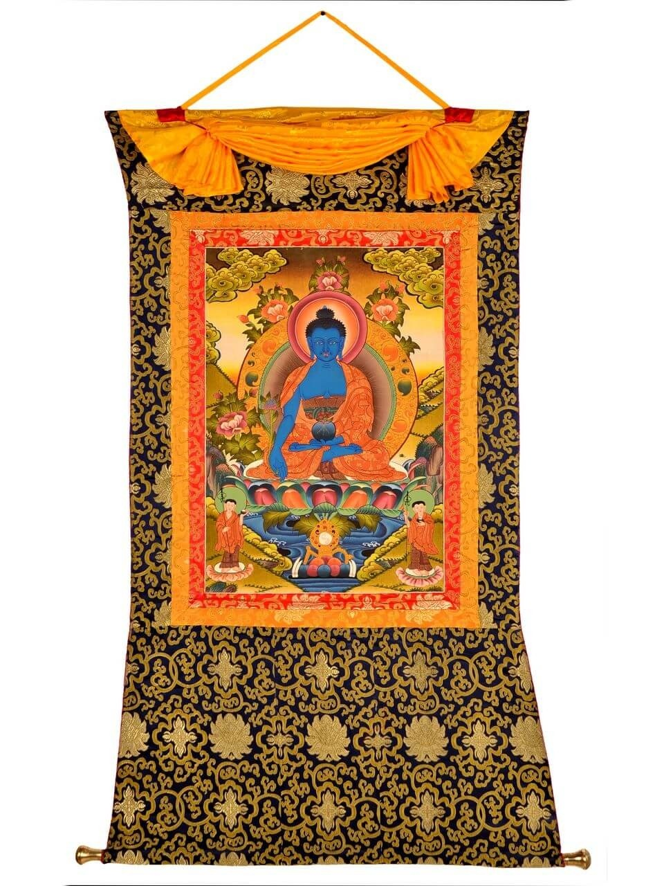 Tibetan Medicine Yoga Thangka