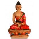 Amitabha Buddha Statue Resin 11,5 cm coloured