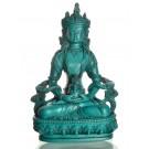 Aparimita/Amitayus 20 cm Buddha Statue Resin turquoise
