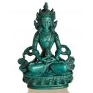 Aparimita/Amitayus 15,5 cm Buddha Statue Resin turquoise