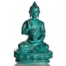 Amoghasiddhi Buddha Statue 19 cm Resin turquoise