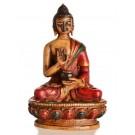 Amoghasiddhi Buddha Statue 11,5 cm Resin painted