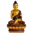 Amoghasiddhi Buddha Statue 11,5 cm Resin - golden painted