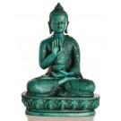 Amoghasiddhi Buddha Statue Resin 13,5 cm Resin turquoise