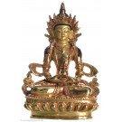 Aparimita / Amitayus 15 cm fully gilt Buddha Statue