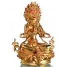 Angry Tara 21 cm fully gold Buddha Statue