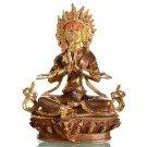 Angry Tara 21 cm partly gilt Buddha Statue