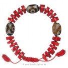 Bracelet red stone with dZi Stone