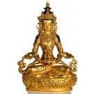 Amitayus Statue sitzende Position in der Vorderansicht