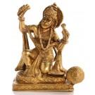 Hanuman Statue knieende Position in der Vorderansicht