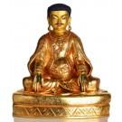 Kagyü Lehrermeister Marpa Statue sitzende Position in der Vorderansicht