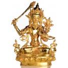 Manjushri Statue sitzende Position in der Vorderansicht