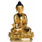 Medizinbuddha Statue sitzende Position in der Vorderansicht