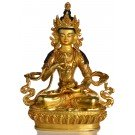 Vajrasattva Dorje Sempa Statue sitzende Position in der Vorderansicht