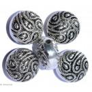 Silver colored ornaments A - 2 pc 25mm