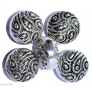 Silver colored jewelry C - 4pc. 15mm