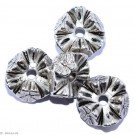 Silver colored jewelery E - 4 pcs 18mm
