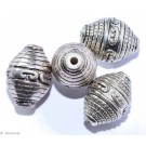 Silver colored jewelery F - 4 pc 15mm