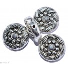 Silver colored ornaments B - 2St. 22mm