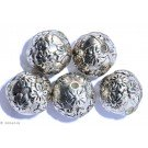 Silver colored Jewelery H - 6 pcs 12mm