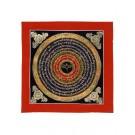 Thangka Mandala Buddha Eyes 26 x 26 cm