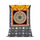 Thangka - Mandala OM 95 x 110 cm