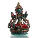 Green Tara 12 cm  Resin turquoise painted
