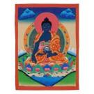 Thangka Medicine Buddha 30,5 x 39,5 cm