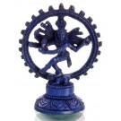 Nataraja Statue blau 14 cm