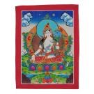 Thangka  - White Tara 23 x 30,5 cm
