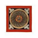 Thangka - Mandala Om 26 x 26 cm