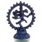 Nataraja Statue blau 11,5 cm vorne