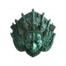 Garuda Mask Resin turquoise 14 cm