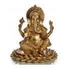 Ganesh sitting on Lotus 20,5 cm