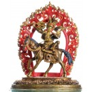 Gesar of Ling 31 cm partly fire gilded