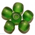 Glass beads green 14mm 4pc
