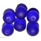 Glass beads dark blue 8mm 20pc.