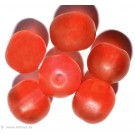 Glass beads red 8mm 20pc