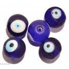 Glass beads blue eye 11mm 6pc.